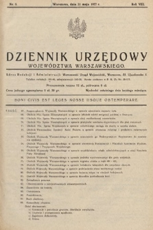 Dziennik Urzędowy Województwa Warszawskiego. 1927, nr5