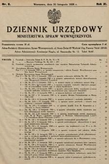 Dziennik Urzędowy Ministerstwa Spraw Wewnętrznych. 1928, nr8