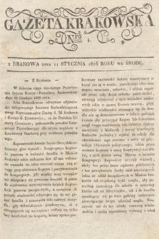 Gazeta Krakowska. 1826, nr4