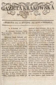Gazeta Krakowska. 1826, nr7