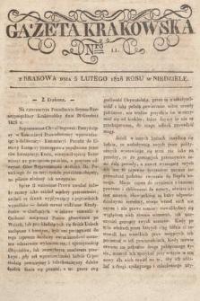 Gazeta Krakowska. 1826, nr11