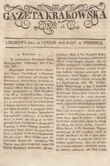 Gazeta Krakowska. 1826, nr13