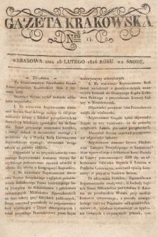 Gazeta Krakowska. 1826, nr14