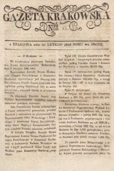 Gazeta Krakowska. 1826, nr16