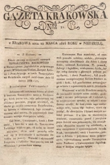 Gazeta Krakowska. 1826, nr21