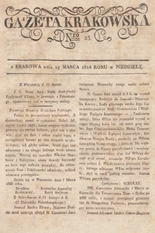 Gazeta Krakowska. 1826, nr23