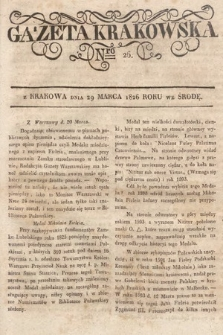 Gazeta Krakowska. 1826, nr26