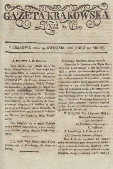 Gazeta Krakowska. 1826, nr32