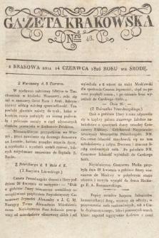 Gazeta Krakowska. 1826, nr48
