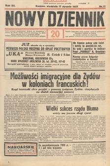 Nowy Dziennik. 1937, nr17