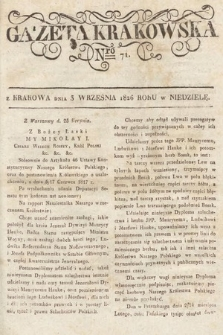 Gazeta Krakowska. 1826, nr71