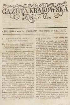 Gazeta Krakowska. 1826, nr73