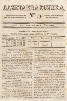 Gazeta Krakowska. 1830, nr79