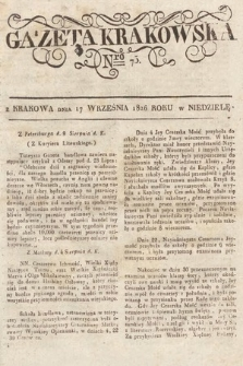 Gazeta Krakowska. 1826, nr75
