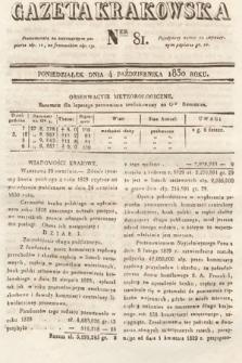 Gazeta Krakowska. 1830, nr81