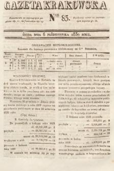 Gazeta Krakowska. 1830, nr83
