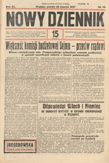 Nowy Dziennik. 1937, nr26