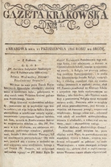Gazeta Krakowska. 1826, nr82