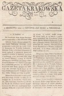 Gazeta Krakowska. 1826, nr101