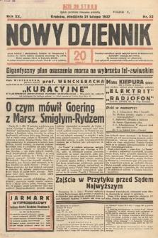 Nowy Dziennik. 1937, nr52