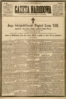 Gazeta Narodowa. 1903, nr165