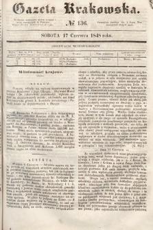 Gazeta Krakowska. 1848, nr136