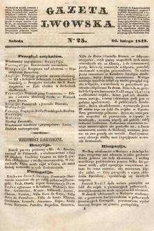 Gazeta Lwowska. 1842, nr 25