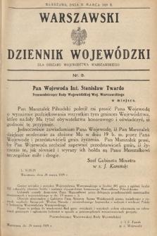 Warszawski Dziennik Wojewódzki : dla obszaru Województwa Warszawskiego. 1929, nr3