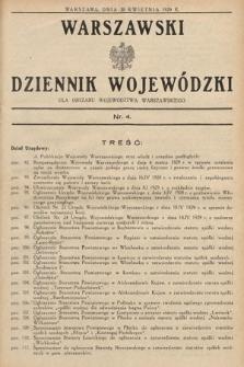 Warszawski Dziennik Wojewódzki : dla obszaru Województwa Warszawskiego. 1929, nr4