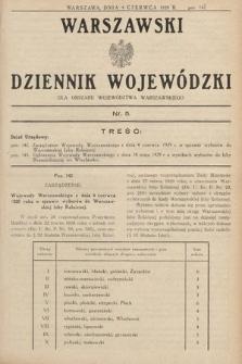 Warszawski Dziennik Wojewódzki : dla obszaru Województwa Warszawskiego. 1929, nr5