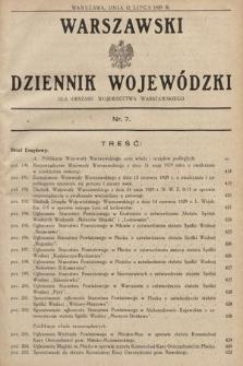Warszawski Dziennik Wojewódzki : dla obszaru Województwa Warszawskiego. 1929, nr7