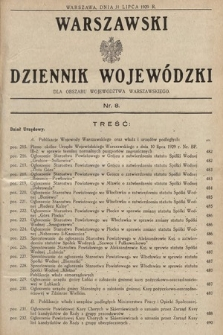 Warszawski Dziennik Wojewódzki : dla obszaru Województwa Warszawskiego. 1929, nr8
