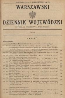 Warszawski Dziennik Wojewódzki : dla obszaru Województwa Warszawskiego. 1929, nr11