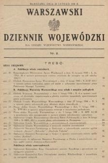 Warszawski Dziennik Wojewódzki : dla obszaru Województwa Warszawskiego. 1930, nr2
